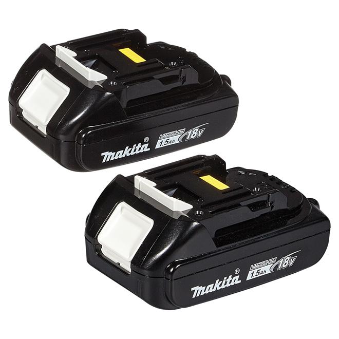 Paquet de 2 batteries au lithium-ion 18 V LXT 1,5 A
