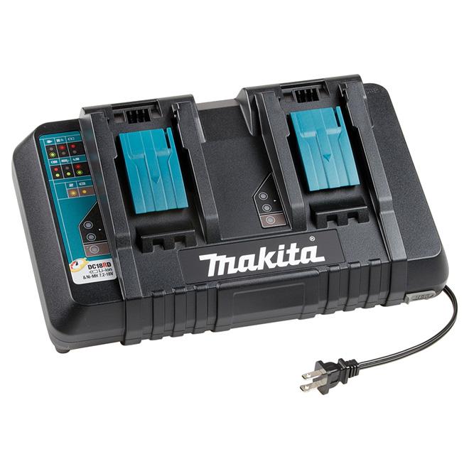 Chargeur ultra rapide double port pour batteries lithium 18V
