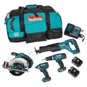 Set of 4 Cordless Tools -18 V Lithium-ion LXT - Teal