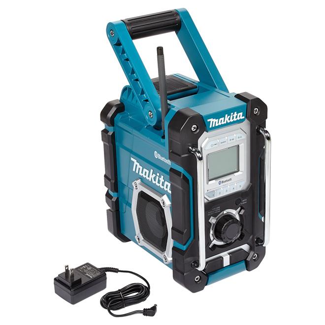 Radio de chantier sans-fil/électrique, plastique, sarcelle