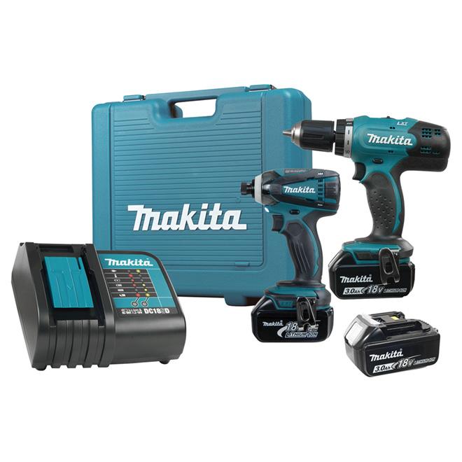 Ensemble de 2 outils sans fil Makita, lithium-ion 18 V
