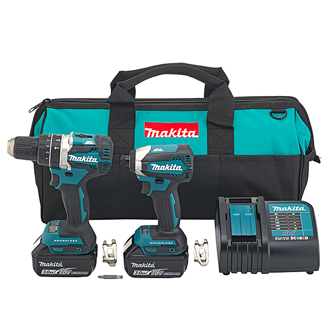 MAKITA 18V Cordless Hammer Drill and Impact Driver Set - 6