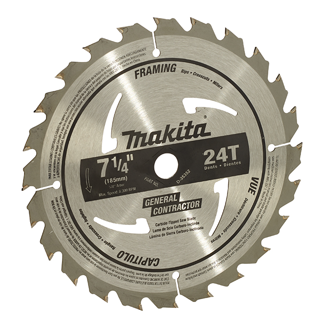 "Circular Saw Blade - M-Force - 7 1/4"" - 24T"