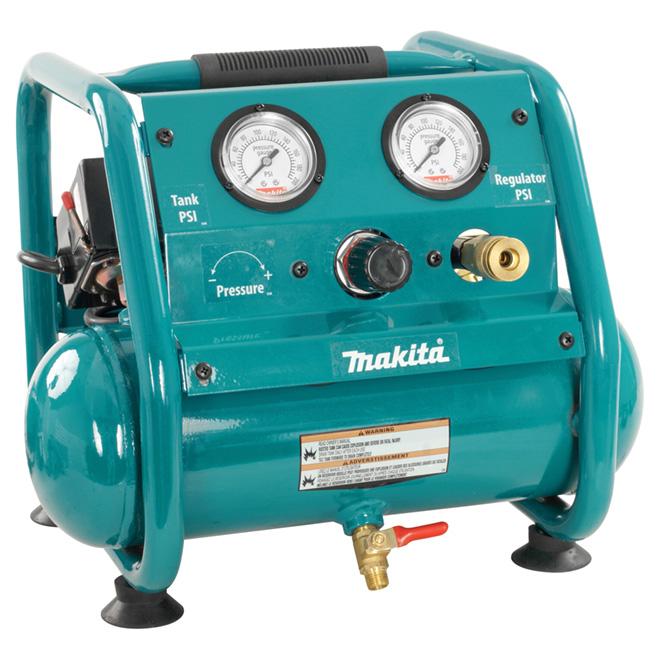 Compresseur à air 1 gal, sans huile, 1 hp
