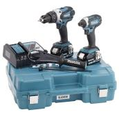 Hammer Drill and Impact Driver Set - 18 V - Teal