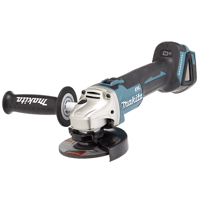 Makita 4 1/2-in Cordless Angle Grinder with Brushless Motor - 8500-RPM - LED Display Indicator