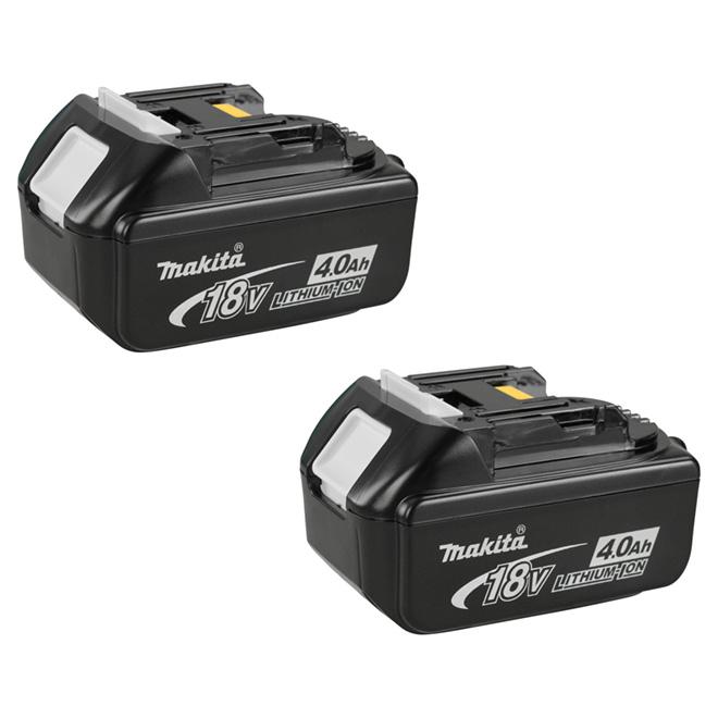 Cordless Power Tool Battery - 18V - Lithium-Ion - Black - 2PK