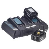Ensemble de batteries et de chargeur, lithium ion, 18 V