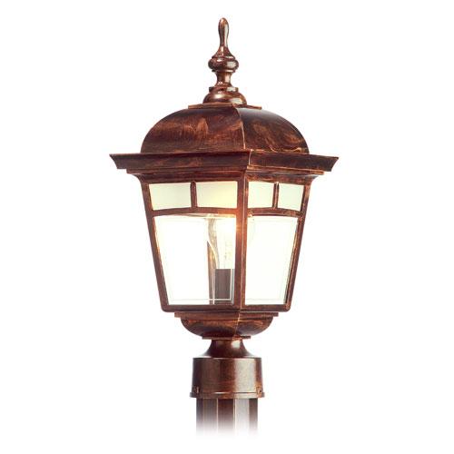 'Imagine' Post Mounted Lantern - Antique Copper - 17 7/8''