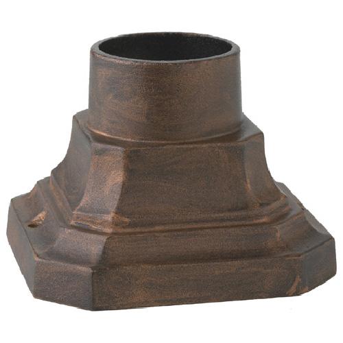 Snoc Antique Light Post Base - 5 5/8-in - Antique Copper