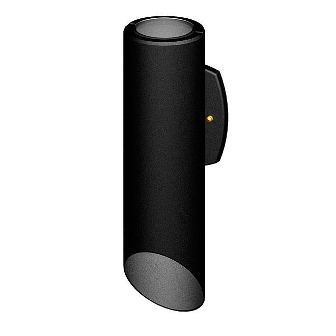 Snoc Outdoor Wall Fixture - Black Aluminum - 17 1/4''