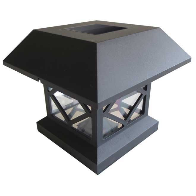 Set Of 4 Solar Garden Lights For Posts Sl1322b Rona