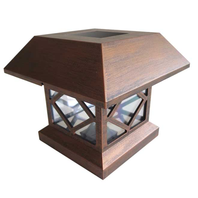 Solar Garden Light for Post - Copper - 1 Unit