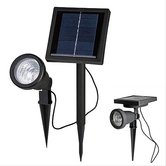 """Projecteur de jardin solaire DEL sur piquet, 3 DEL, 10 3/4"""""""
