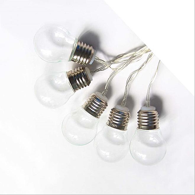 """Solar LED Light String - 10 LEDs - 3"""" - Clear"""