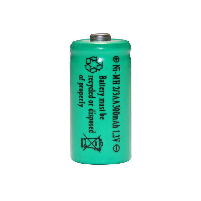 Piles AA rechargeables NI-MH, 300 mAh, 1,2 V, paquet de 2