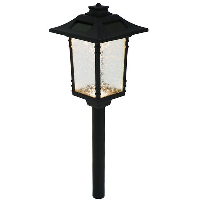 LED Solar Garden Light - 5'' x 20'' - Black