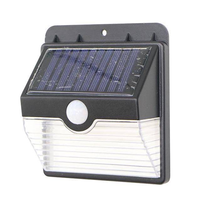 Solar Wall LED Light - Motion Sensor - Plastic - Black