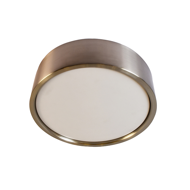 ALLEN + ROTH Flushmount Ceiling Light - Dimmable - 22 W - 14-in x 14-in - Brushed Nickel