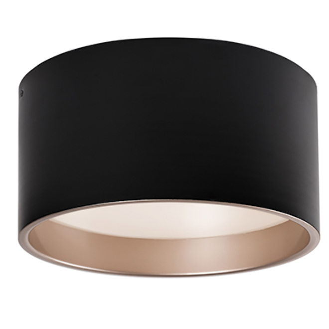 "ALLEN + ROTH Flushmount Ceiling Light - Dimmable - 22 W - 14"" x 15"" - Black"