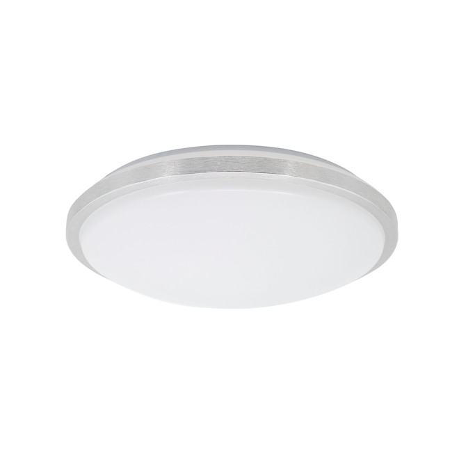 Project Source Round Flush Mount Ceiling Fixtures - LED - 12-in - Metal/Acrylic - Brushed Nickel - Pack of 2