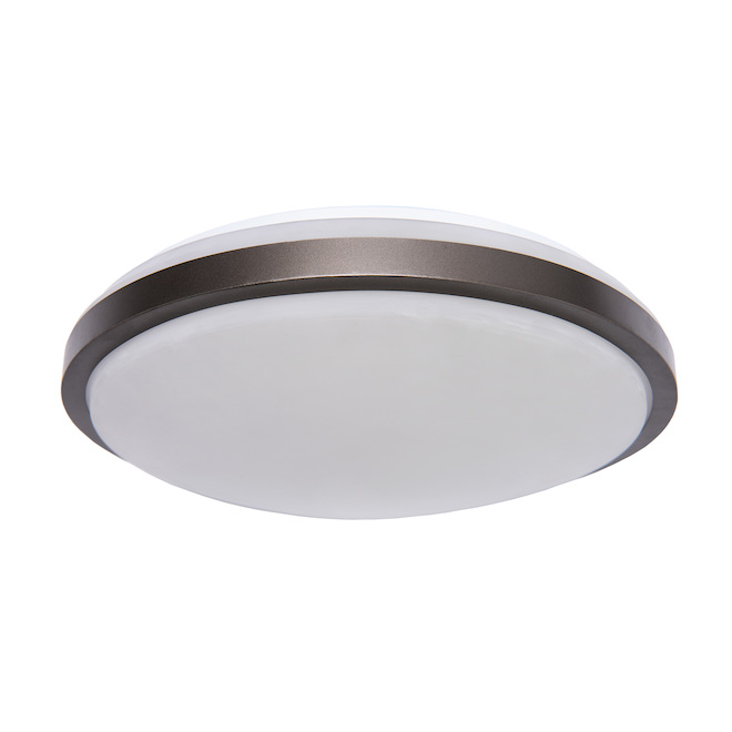 Plafonniers ronds Project Source, DEL, 12 po, métal/acrylique, bronze huilé, paquet de 2