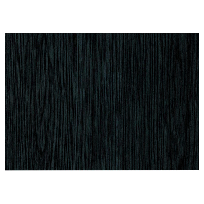 Decorative Vinyl - Self-Adhesive - 200 x 45 cm - Black Wood