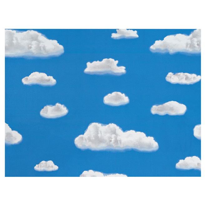 Self-Adhesive Vinyl Window Film - Blue Sky and Clouds