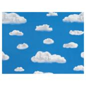 Self-Adhesive Vinyl Window Film - Blue Sky and Clouds