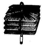 Brosse rectangulaire pour cheminée