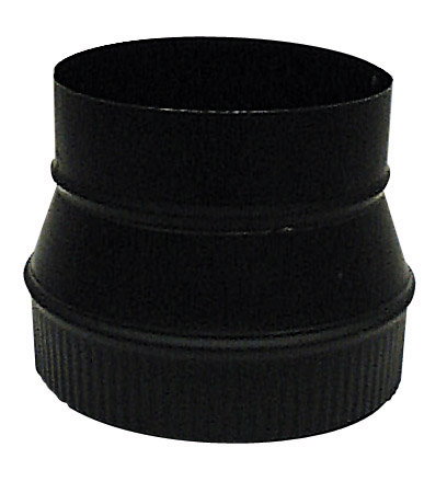 Steel Increaser - 6'' x 7'' - 24-Gauge - Black