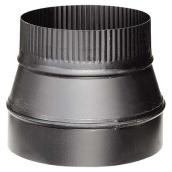 Stove Pipe Reducer - 7'' x 6'' - 24-Gauge - Black