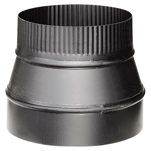 Steel Reducer - 8'' x 6'' - 24-Gauge - Black