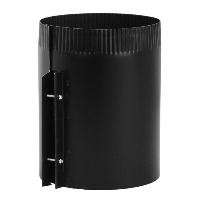 "Adjustable Connector - Steel - 7"" x 24 cal - Black"