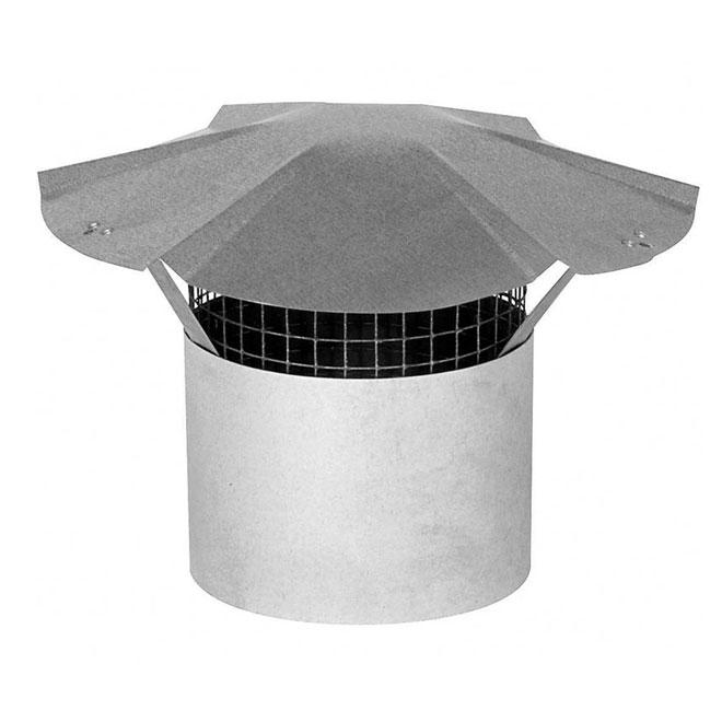 """Chapiteau de cheminée en acier galvanisé de 9"""""""