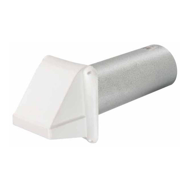 Plastic Vent Cap 4 in x 12 in - White
