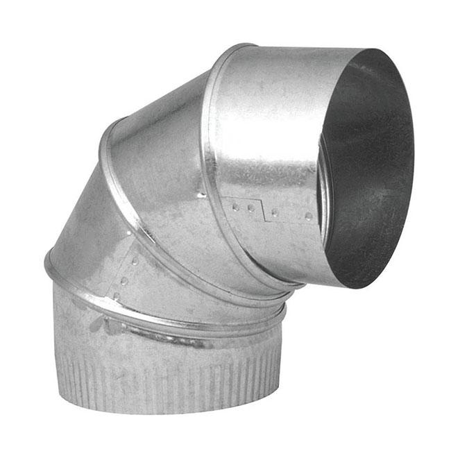 Adjustable Elbow - 7'' - 90° - Galvanized Steel
