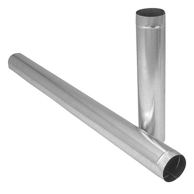 Furnace Pipe, 28-Gauge Steel - 7'' x 60''