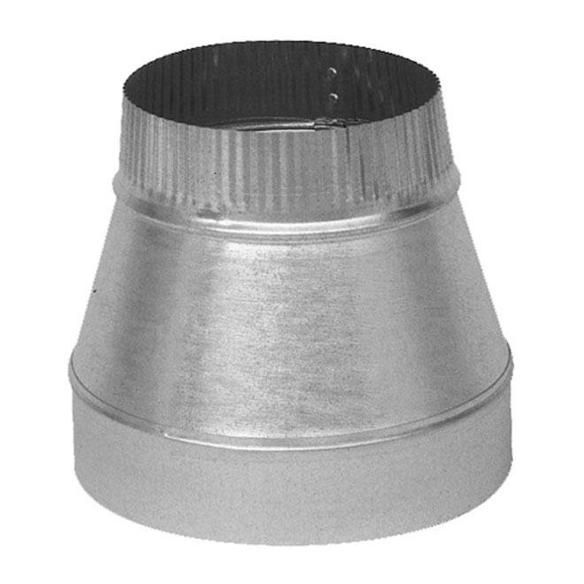 "5"" to 4"" Diameter Galvanized Steel Reducer"
