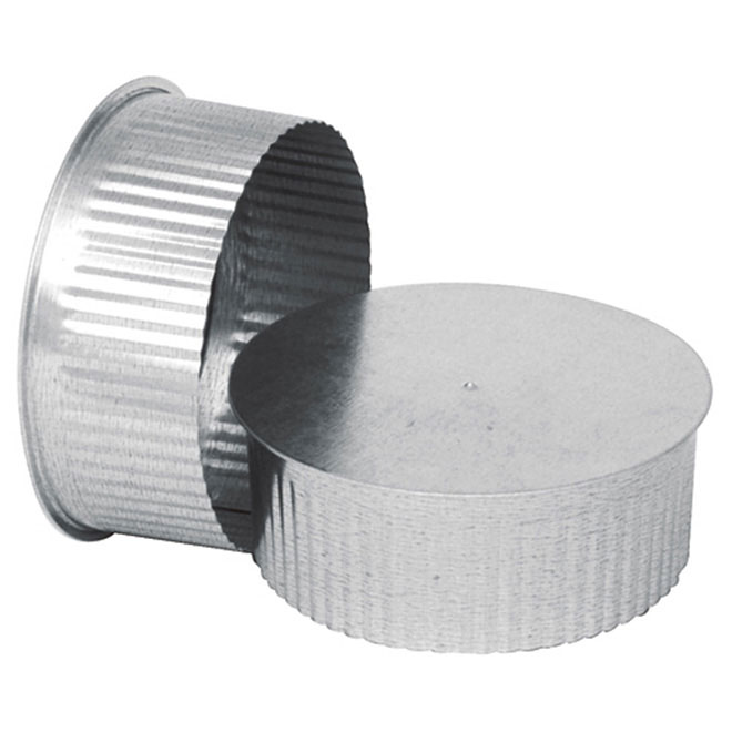 """5"""" Round End Cap (small cap) to Close Duct"""