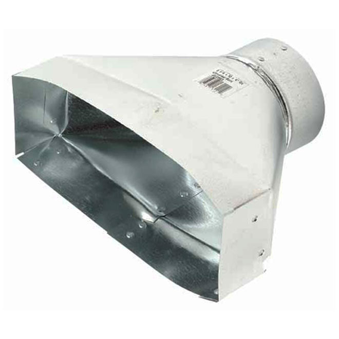 Galvanized Universal Boot for Transition Between Ducts
