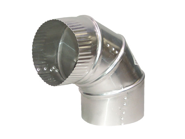 "4"" Diameter Aluminum Adjustable Elbow, Up to a 90° Angle"