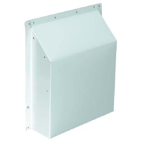 "3 1/4"" x 10"" White Aluminum Anti-Gust Hood"