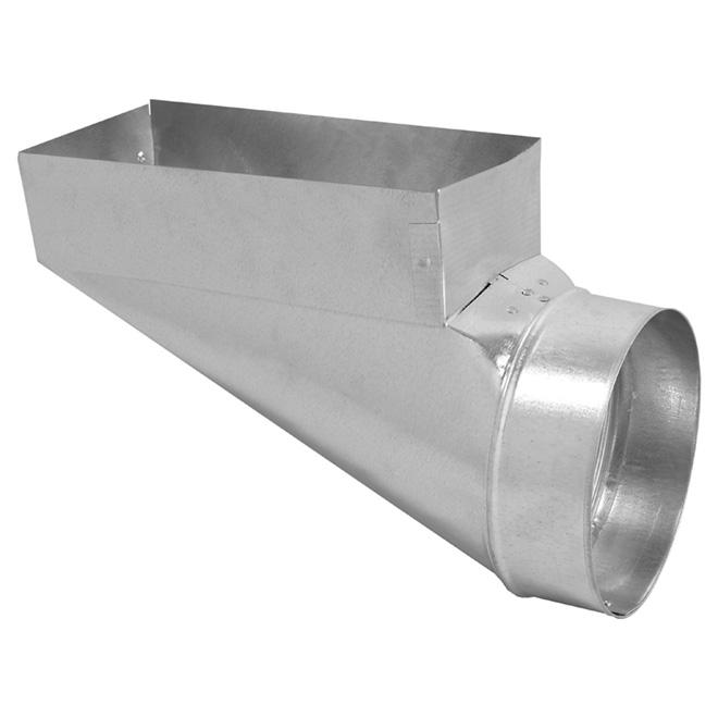 Register Boot - 30-Gauge Steel - 3 1/4'' x 10'' x 4''