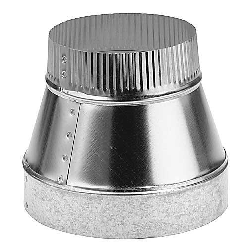 "8"" to 6"" Diameter Galvanized Steel Reducer"