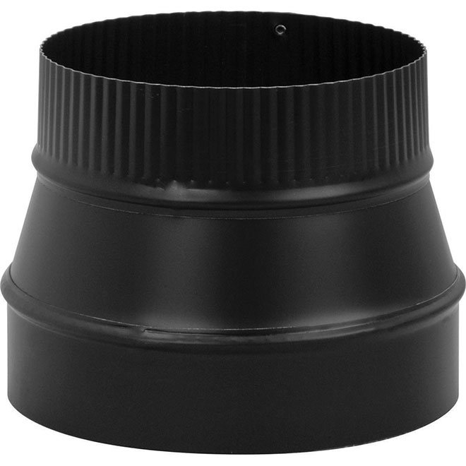 "Steel Reducer - 6"" x 5"" - 24-Gauge - Black"
