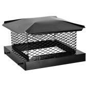 """Chapeau de cheminée carré, 12"""" x 12"""", acier, noir"""