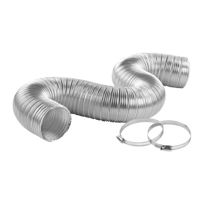 """Semi-Rigid Aluminum Pipe - 4"""" x 8'"""