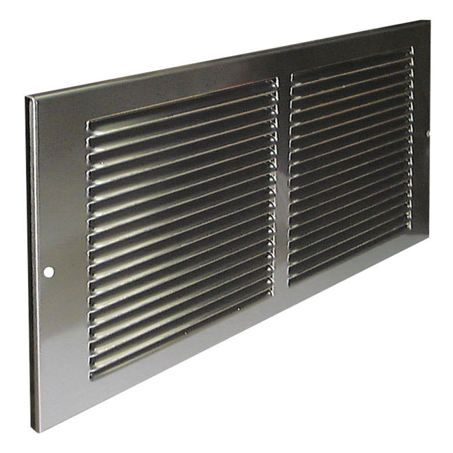 """Sidewall Grille - Plated Metal - 12"""" x 6"""" - Pewter"""