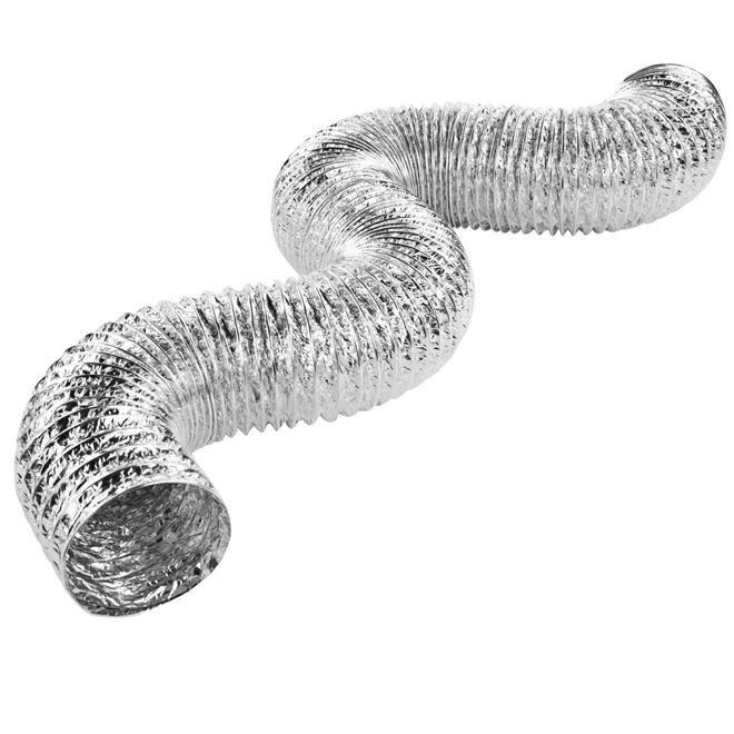 """Conduit d'aération flexible pour sécheuse, 4"""", aluminium"""